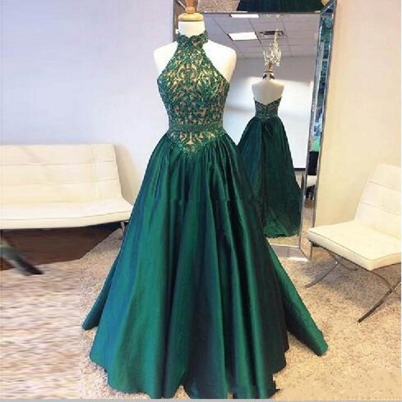 Hunter Green Evening Pageant Dresses 2019 Real Image High