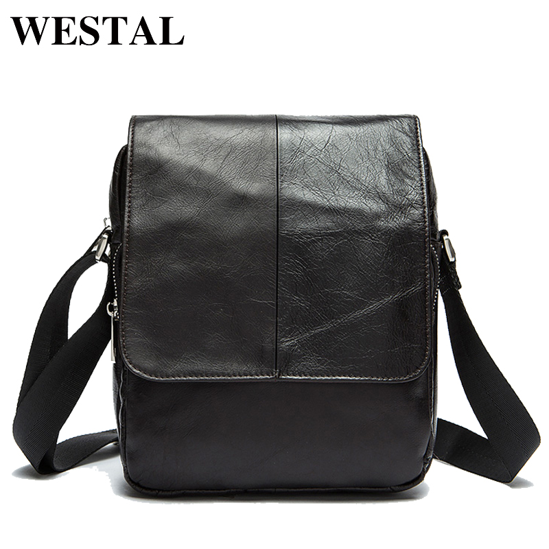 WESTAL Genuine Leather Men Bags Fashion Man Leather Bag Crossbody Shoulder Handbags Men's Messenger Bags Male Small Bag 9108 neweekend genuine leather bag men bags shoulder crossbody bags messenger small flap casual handbags male leather bag new 5867