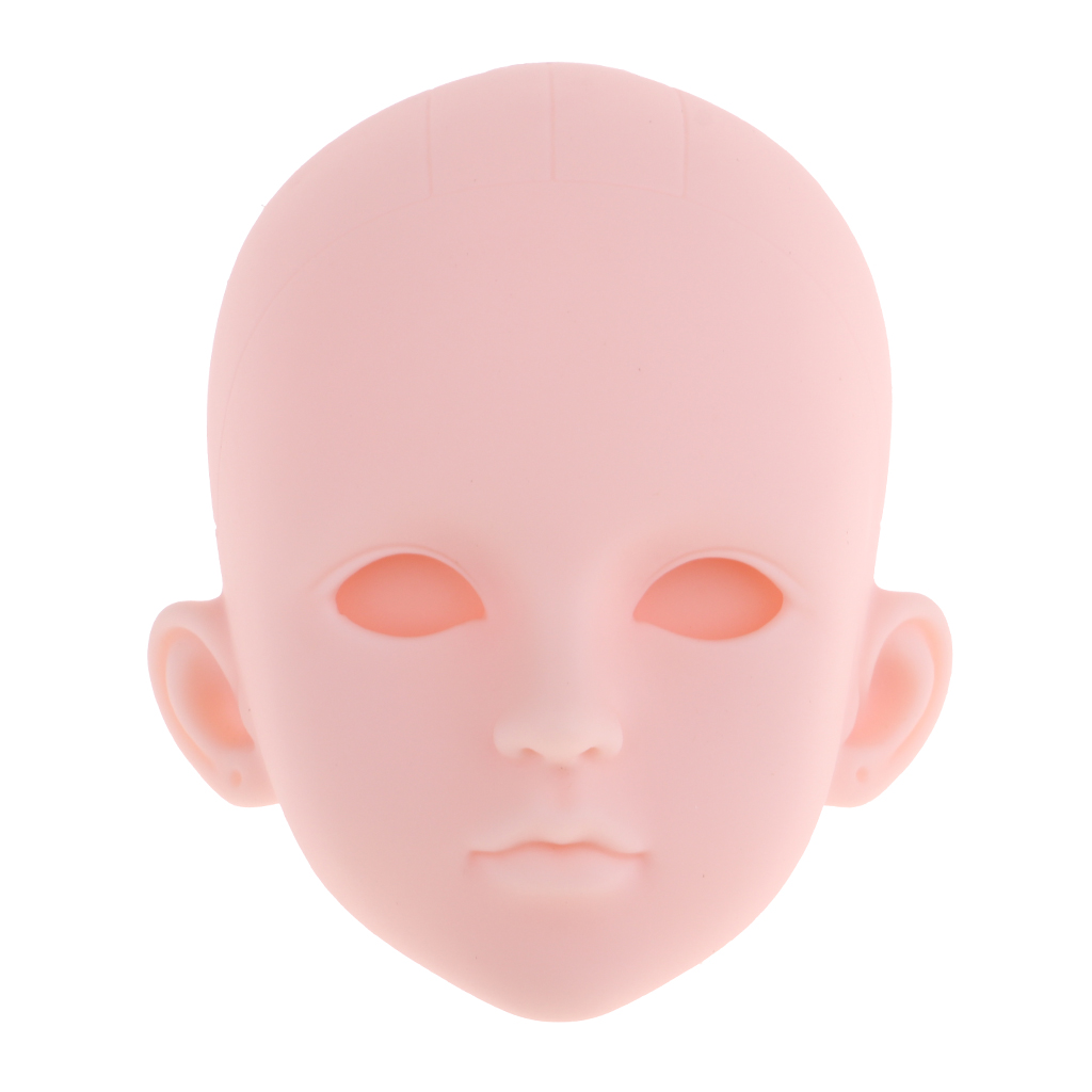 1//6 Ball Jointed Doll Head Sculpt /& White Hair Body Parts For MSD Body Parts