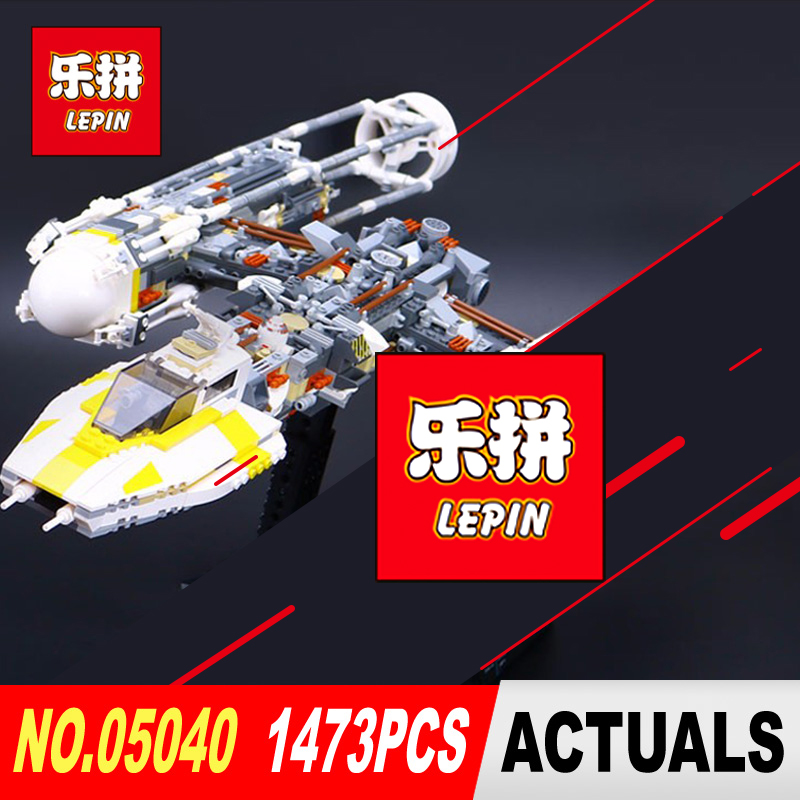 LEPIN 05040 1473Pcs Star Series Wars Y-wing Attack Starfighter Model Building Kits Blocks Bricks Boy Toys Compatible model 10134 lepin 05040 star series war the y set wing attack star model fighter building blocks assembled bricks toys compatible with 10134