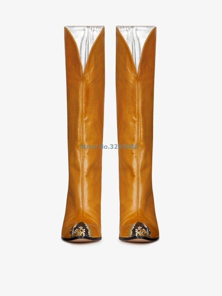 Vermelho PU Em Relevo Design Gato Chelsea Calcanhar Apontado Botas de Camurça PU Patchwork Moda Meados de Bezerro Botas Frente V Profundo Sexy botas - 4