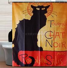 Afternoon coffee Custom Popular lovely Cat Shower Curtain Bathroom decor waterproof shower curtain halloween cat print waterproof shower curtain