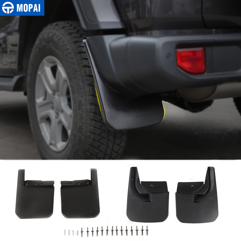 MOPAI Car Mudguards for Jeep Wrangler JL 2018 Car Fender Front Rear Splash Guards Mud Flaps for Jeep JL Wrangler Accessories-in Mudguards from Automobiles & Motorcycles