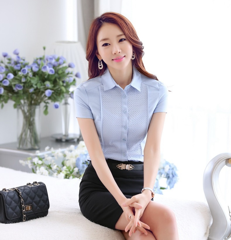 Collection Light Blue Shirt Womens Pictures - Reikian