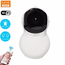 Kruiqi 960P Baby Monitor Wifi IP Camera with LAN Port PTZ Motion Detect 2-way Audio Remote Contorl 2.4G Wifi Security Camera