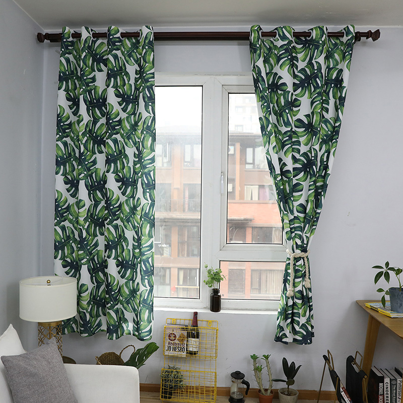 Aliexpress.com : Buy Babaite Nordic Green Leaves Stylish Curtain Modern  Printing Home Decoration Curtains For The Living Room Bedroom Rideaux From  Reliable ...
