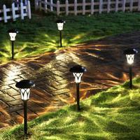 Solar outdoor landscape courtyard lawn garden LED home decoration waterproof villa ground plug road lights