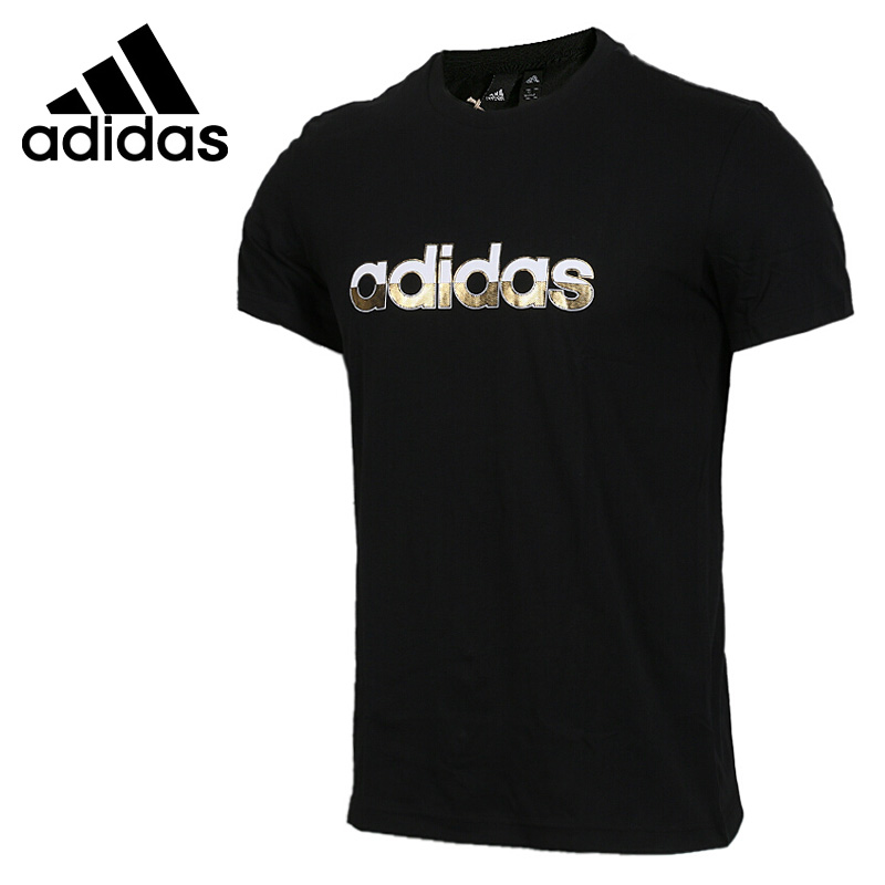 Оригинальный Новое поступление 2018 Adidas CM GFX SS LIN мужские футболки с коротким рукавом спортивная одежда