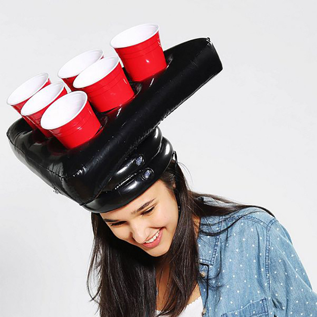 Inflatable Beer Pong Hat Floating Pong Game for Swimming Pool Party Supplies Beach Inflatable Toys for Kids 1