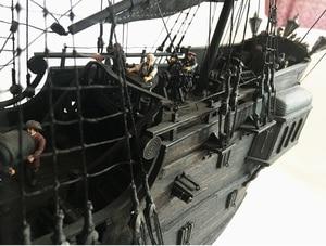 Image 3 - New black pearl Pirates ship wooden model kit 80cm length