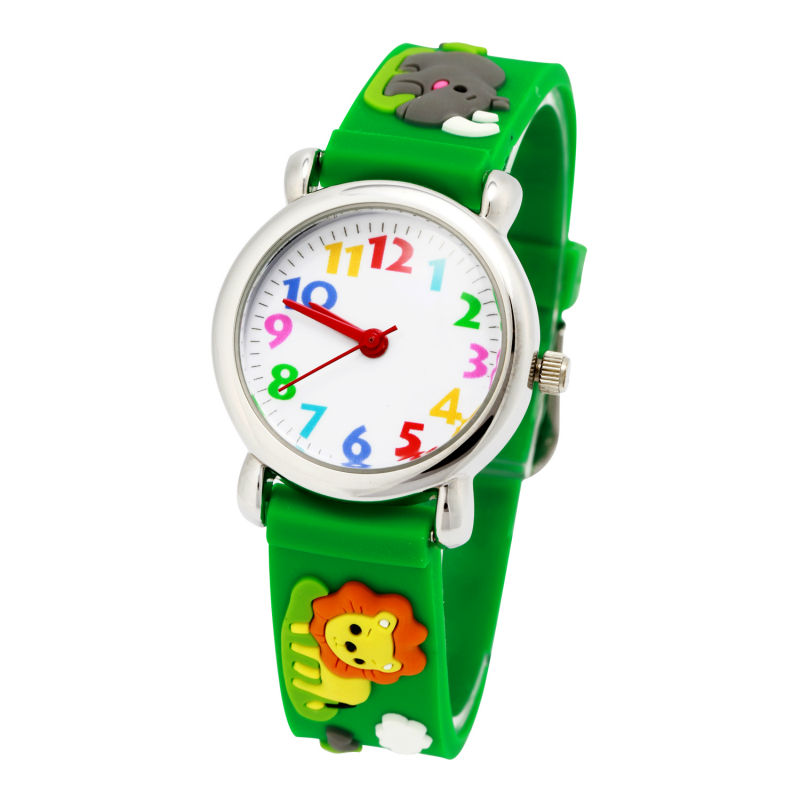 Brand NEW Quartz Wrist Watch Baby For Girls Boys Fashion Casual Reloj Children Silicone Wristwatches lion Waterproof Kid Watches цена