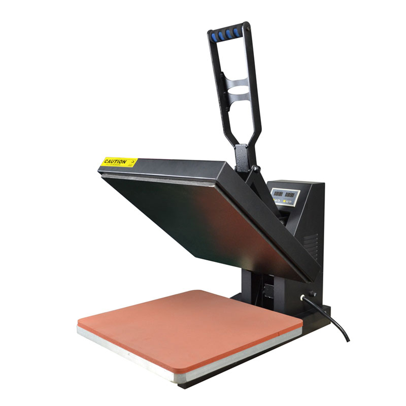 New Flatbed Manual T shirt Printing Machine 40*60cm Clamshell Heat Press Transfer T Shirt Sublimation Machine with high quality