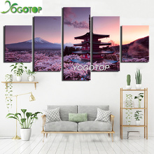 YOGOTOP DIY Diamond Painting Full Embroidery 5D Square/Round Drill Mosaic Wall Decor custom Pagoda And Mount Fuji 5pcs ML644