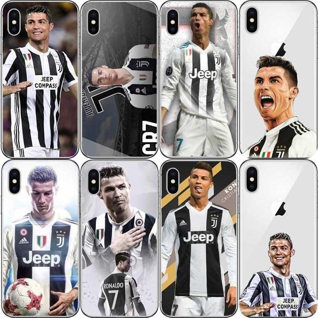 Juventus Cristiano Ronaldo Football Sport Stars CR7 Hard PC Phone Case  Cover For iPhone XR XS MAX 5 5S SE 6 6SPlus 7 7PLUS 8 da181867a