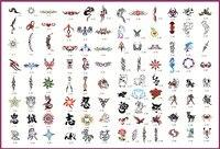 골든 피닉스 책 2 임시 에어 브러쉬 문신 스텐실 바디 아트 페인트 메이크업 화장품 100 디자인 무료 배송