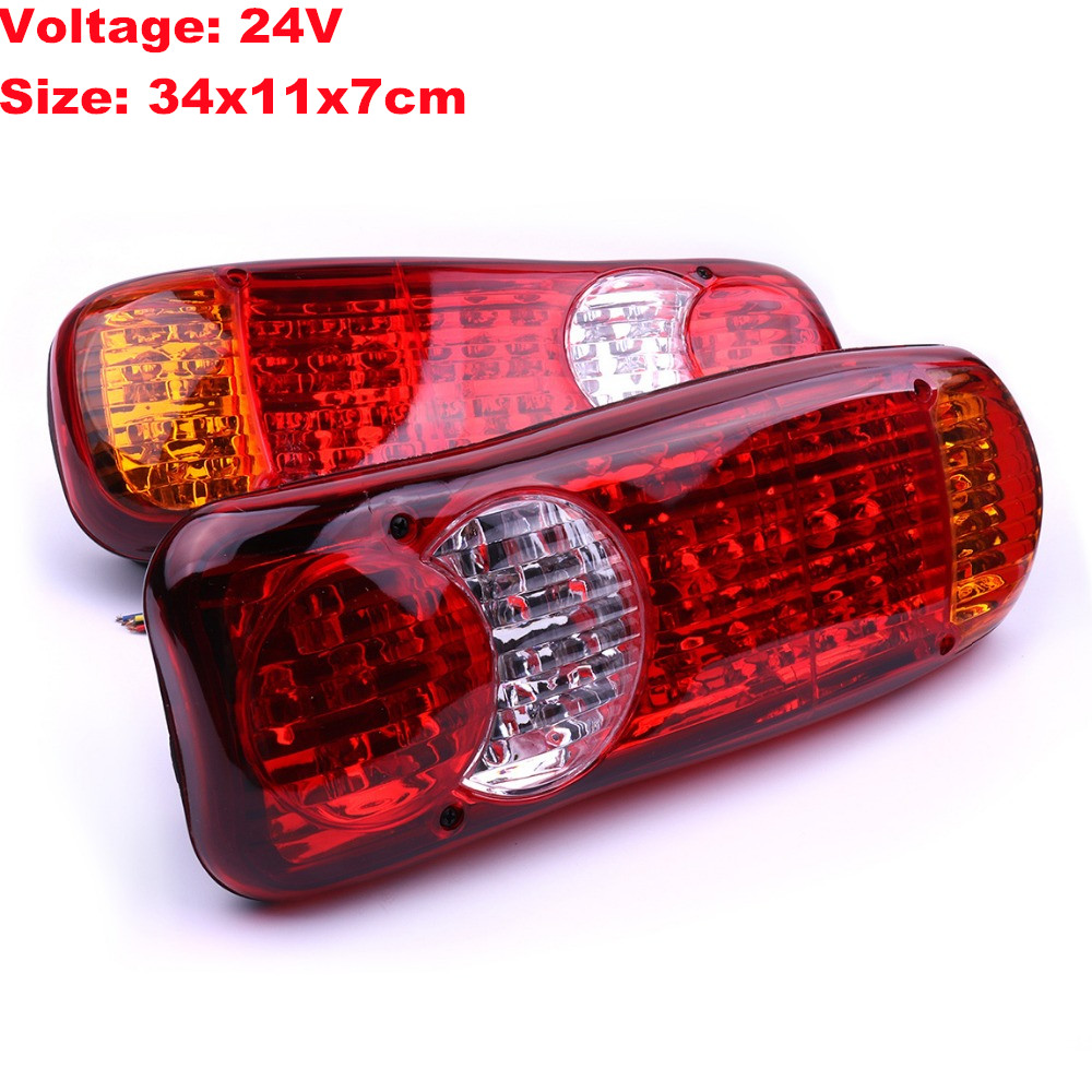 Top Selling 2Pcs 24V Truck LED Rear Tail Light Warning Lights Rear Lamps Waterproof Tailight Parts for Truck Trailer Use