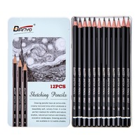 Bianyo 12/Box эскиз Стандартный карандаш Professional Artist инструменты простые наборы карандашей канцелярские уголь для рисования офисные карандаши