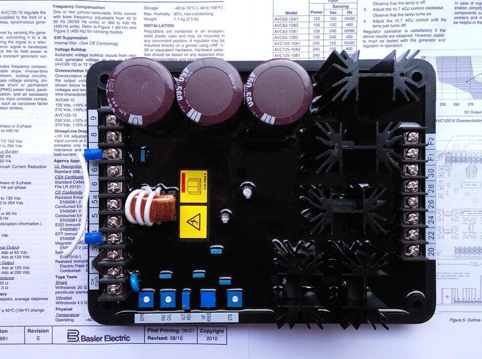 Basler генератор avr avc125-10b1 автоматический Напряжение регулятор
