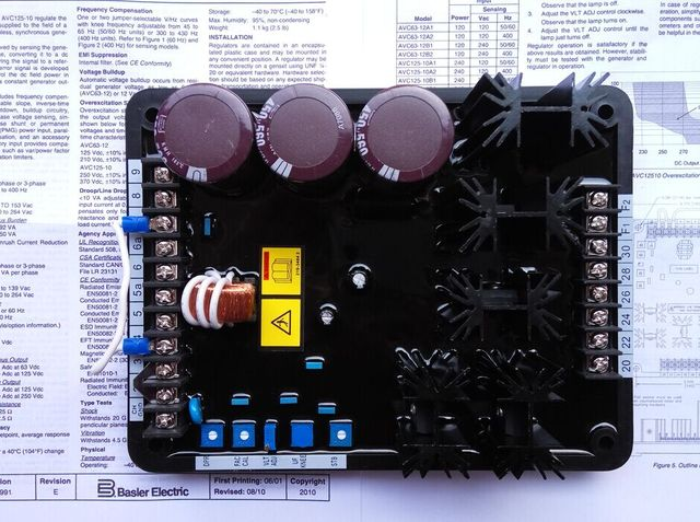 basler generator avr avc125 10b1 automatic voltage regulator inbasler generator avr avc125 10b1 automatic voltage regulator