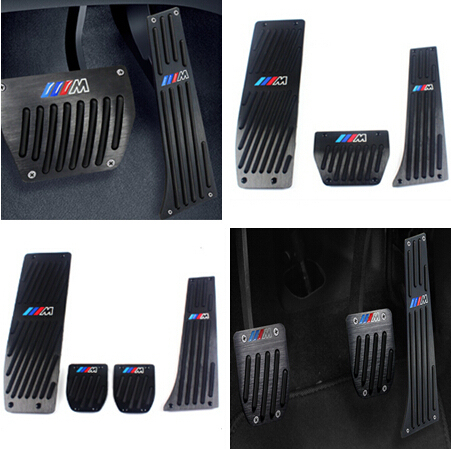 High quality Aluminium Alloy Foot Rest Gas pedal Brake Pedal for BMW X1 M3 E39 E46 E87 E84 E90 E91 E92 Auto Car Accessories