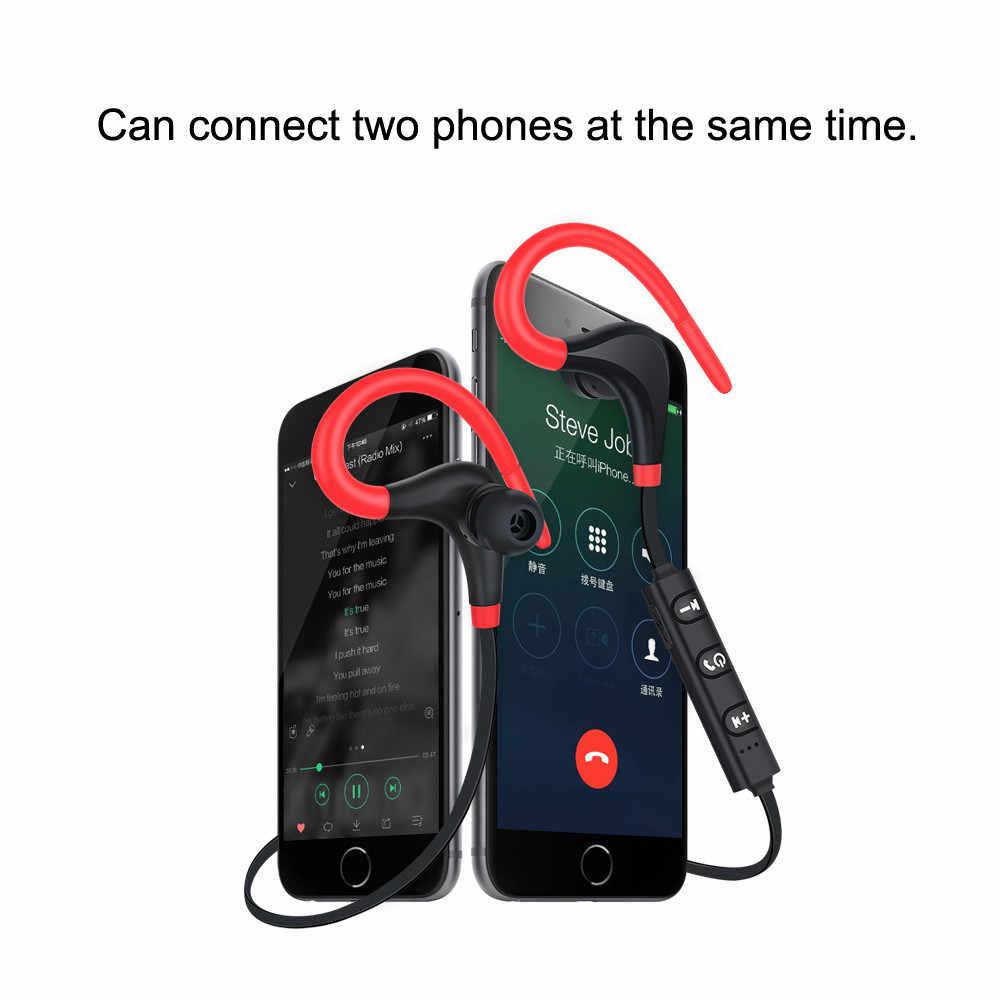 Najnowszy Bluetooth 4.1 bezprzewodowe słuchawki Stereo sportowe zaczep na ucho słuchawki douszne słuchawka douszna lekki dla iPhone dla androida