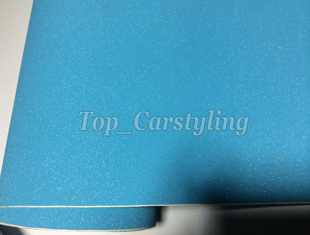 SKY BLUE MATTE METALLIC CAR WRAP GLITTER VINYL WRAP FORSTLY (2)
