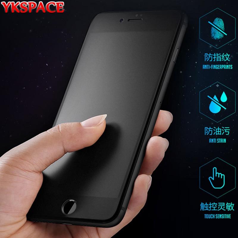 Mat givré protecteur décran pour iPhone X XR XS 11 Pro Max 6 6s 7 8 Plus SE 2020 verre trempé Anti Blue Ray pas dempreinte digitale