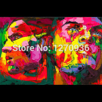 Unique Gift Professional Artist Hand-painted Modern Man Artwork Abstract Portrait Oil Painting On Canvas Flomenco Faces Painting