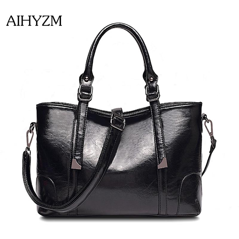 b1c0a15a5d4a Aihyzm 2018 Women Pu Leather Handbags British Style Bags Handbags Women  Famous Brands Hair ball Women Messenger Bags
