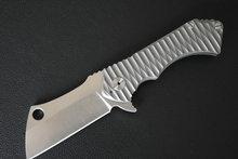 Folding Knife TC4 Titanium Handle Ceramics Ball Bearing Satin / Stone wash Blade Hunting Camping Knives Dropshipping