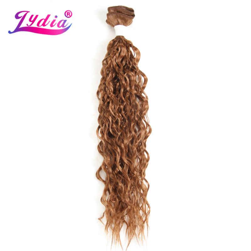 """Lidia para mujeres negras tejido rizado sintético 3 paquetes/Lote 20 """"paquetes de pelo de onda de agua Color natural Jerry la extensión del pelo del rizo"""