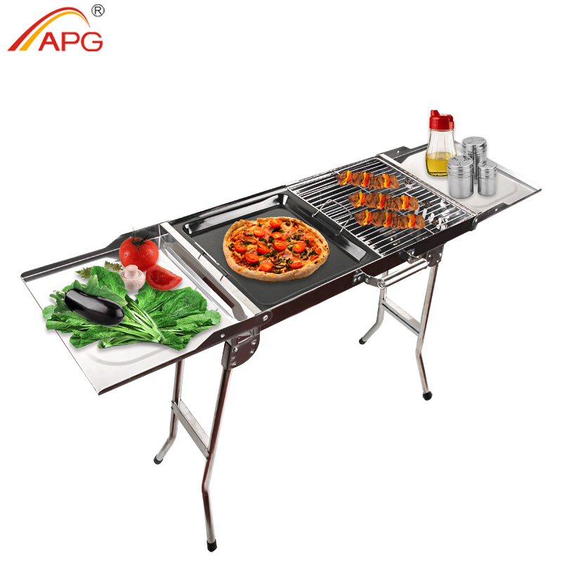 APG Portable Folding Barbecue Stove Barbecue Oven Outdoor Camping Household Charcoal BBQ Grill Carbon Oven churrasqueira para fogão