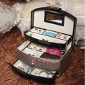 Hot Sale Cosmetic Cases New Cosmetics Storage Box Popular Jewelry Case For Birthday Gift Beautiful Women Makeup Case