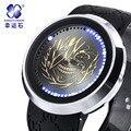 Xingyunshi LED сенсорный экран водонепроницаемые часы мужские электронные часы золото черный лицом Световой часы Часы Relogio Masculino