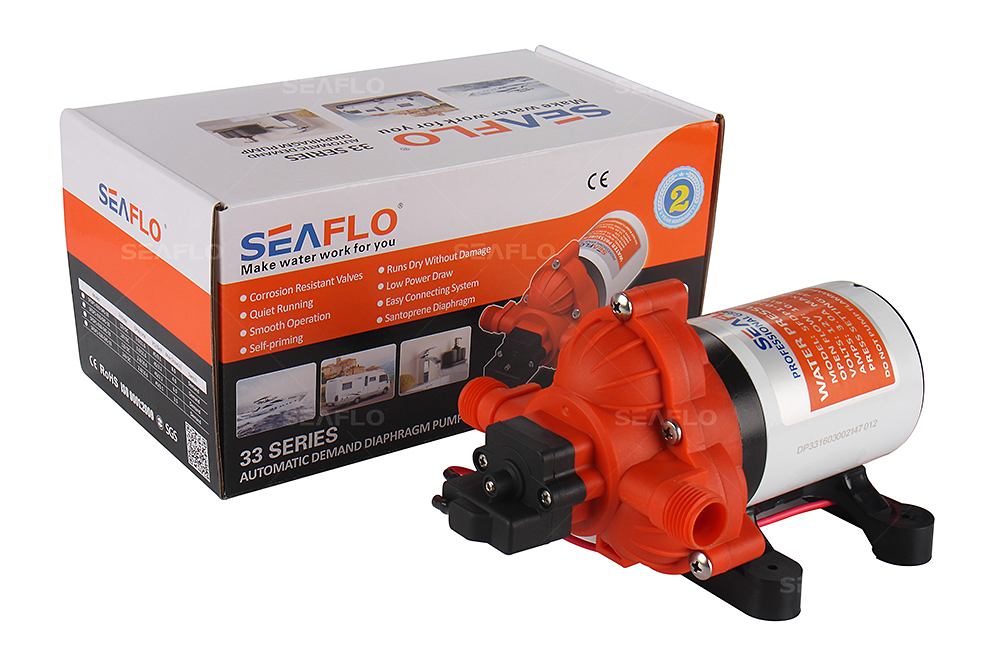 ФОТО 2016 Hot Selling Automatic demand Marine Water Diaphragm Pump 12V DC Seaflo