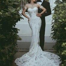 kissbridal trouwjurk Mermaid Wedding Dresses Backless