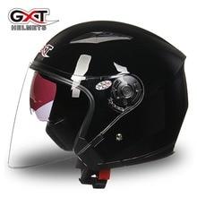цена на GXT Motorcycle Helmet Open Face Capacete ABS Motorbike Helmet Motocicleta Casco DoubleLens Helmet Moto Casque  Unisex Casco Moto