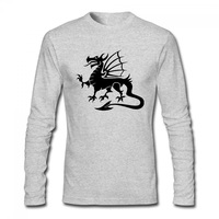 Evil Dragon T Shirt New Style Cotton Men T Shirt Grey T Shirt Hip Hop Long