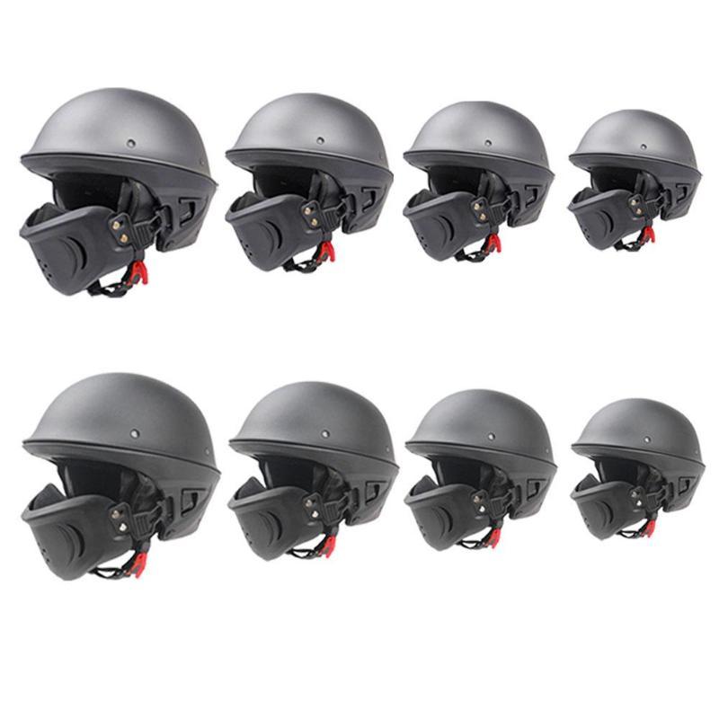 Casque de Protection de visage ouvert de moto de ZR-666 de conception de course avec le masque réglable détachable pour des casques de Harley
