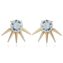 2019 Earings Fashion Jewelry Aquamarine And The Sell Like Hot Cakes Exaggerated Rivet Earrings With Stud Stones New Portion rhinestoned rivet stud earrings
