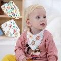 Animales de dibujos animados Impermeable Baberos de Alimentación Del Bebé Saliva Toalla Bandanas Baberos Para Bebés de Algodón Recién Nacido de Impresión Delantales Impermeables Paños Para el Eructo