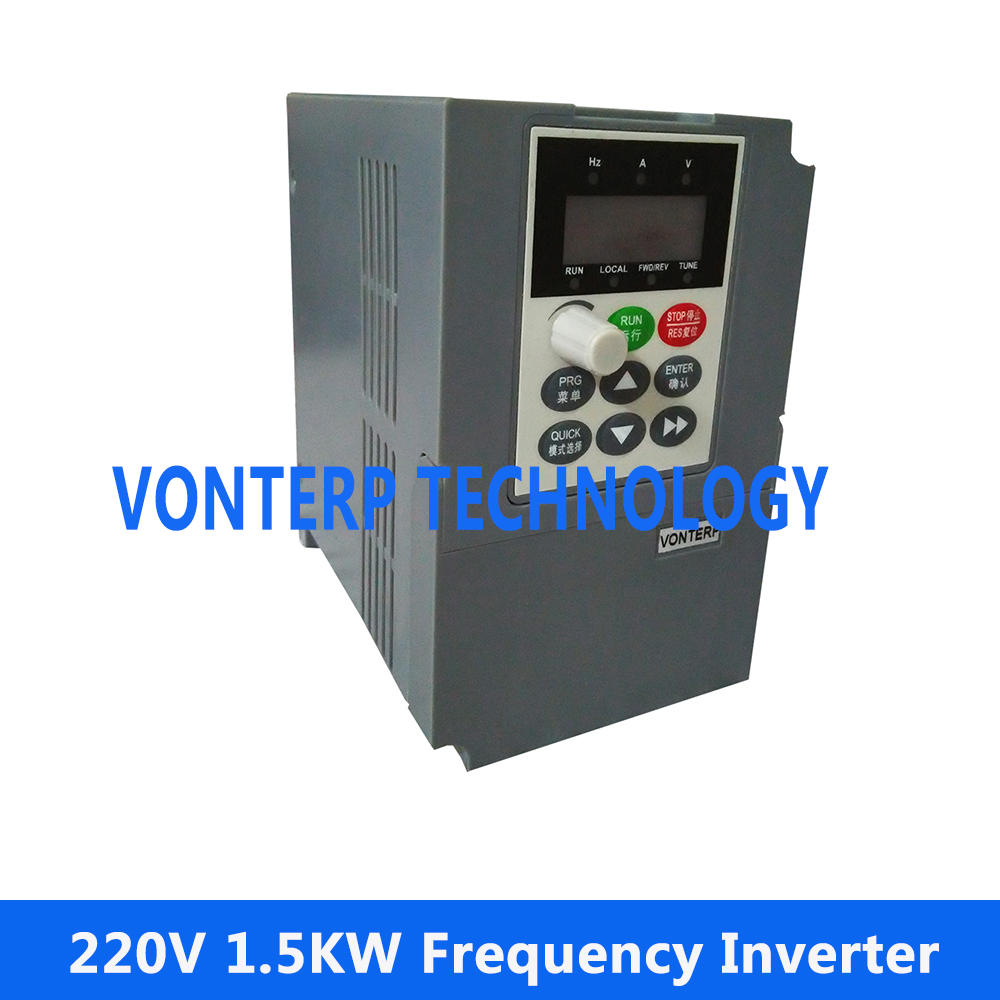 VFD / VARIABLE FREQUENCY DRIVE INVERTER 1.5KW 220V Single phase input and 220v 3 phase output baileigh wl 1840vs heavy duty variable speed wood turning lathe single phase 220v 0 to 3200 rpm inverter driven