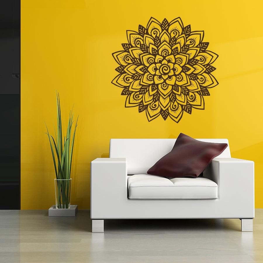Art Home Decor Mandala Flower Yoga Wall Decal Indian Om Buddha ...