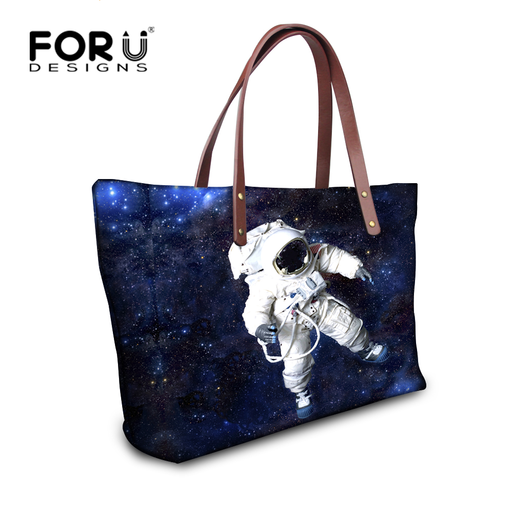 FORUDESIGNS Women Galaxy Hand Bags,2017 Ladies Large Handbag,Famous Brand Women Shoulder Bag,Space Female Tote Beach Clutch Bags