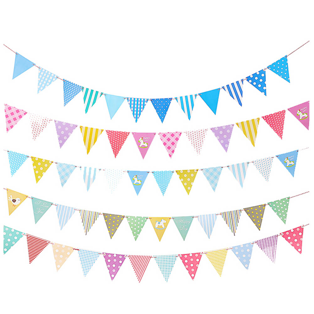 Diy Wedding Word Banners: DIY Paper Flags Garland Floral Bunting Banners Kids