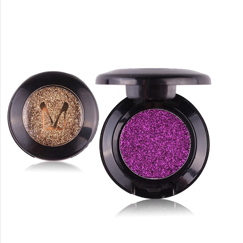 Hot Sale Beauty Pressed Single Eyeshadow Diamond Rainbow Make Up Cosmetic Glitters Eye shadow Magnet Palette