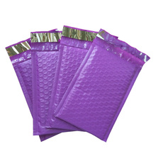 120*180mm/4*8 inch Purple Poly Bubble Mailers Padded Envelopes Self Seal Mailing Bags Pack of 10pcs