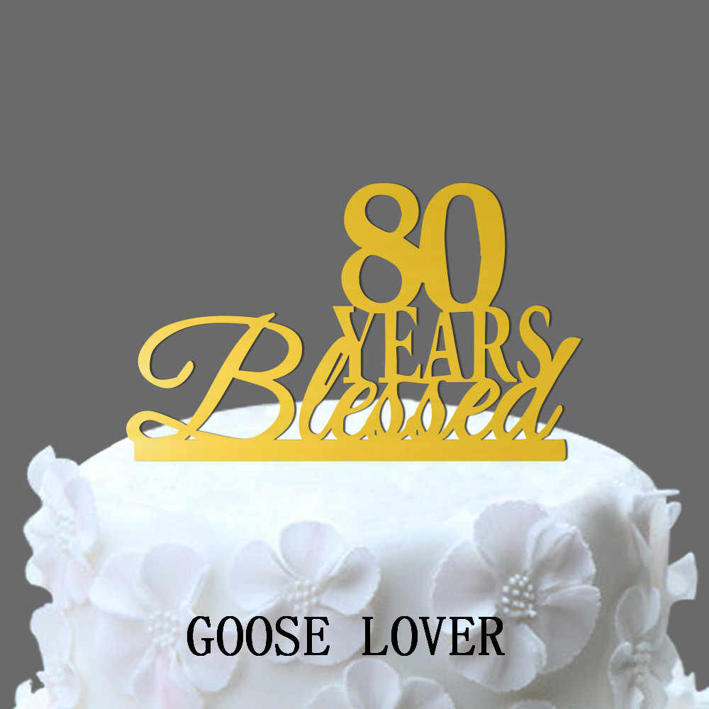 Magnificent 80Th Birthday Anniversary Cake Topper Personalized 80 Years Funny Birthday Cards Online Alyptdamsfinfo