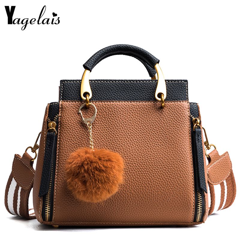 2018 New Casual Tote High Quality Bag Leather Wide Strap Top-Handle Women Handbags Ladies Shoulder Messenger Crossbody Bags
