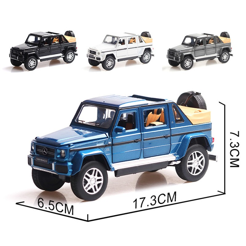 Simulation Mercedes Mercedes Benz Maybach G650 car model alloy sound and light pull back car toy car in Diecasts Toy Vehicles from Toys Hobbies